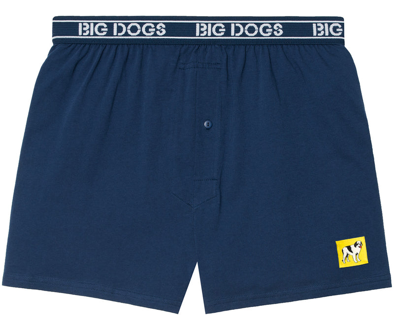 Patch Knit Boxers Navy