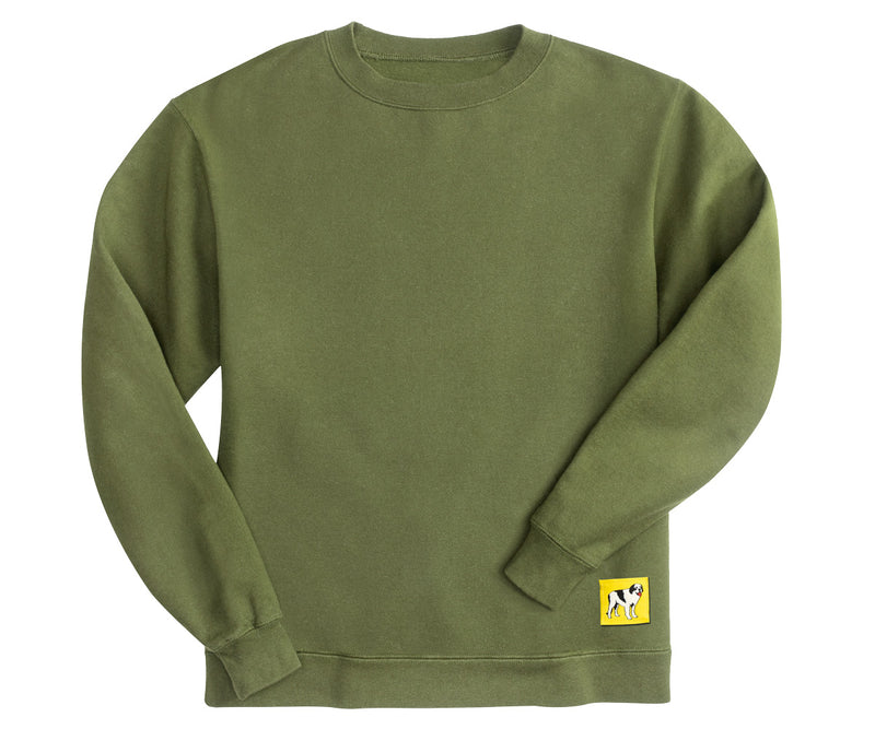 Classic Patch Crew Fleece Pine