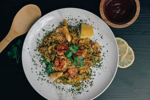 Lemon Garlic Shrimp Pasta - Map Meals | Dallas Meal Prep Service