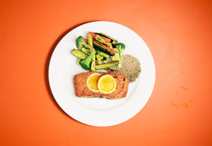 Lemon & Herb Grilled Salmon - Build