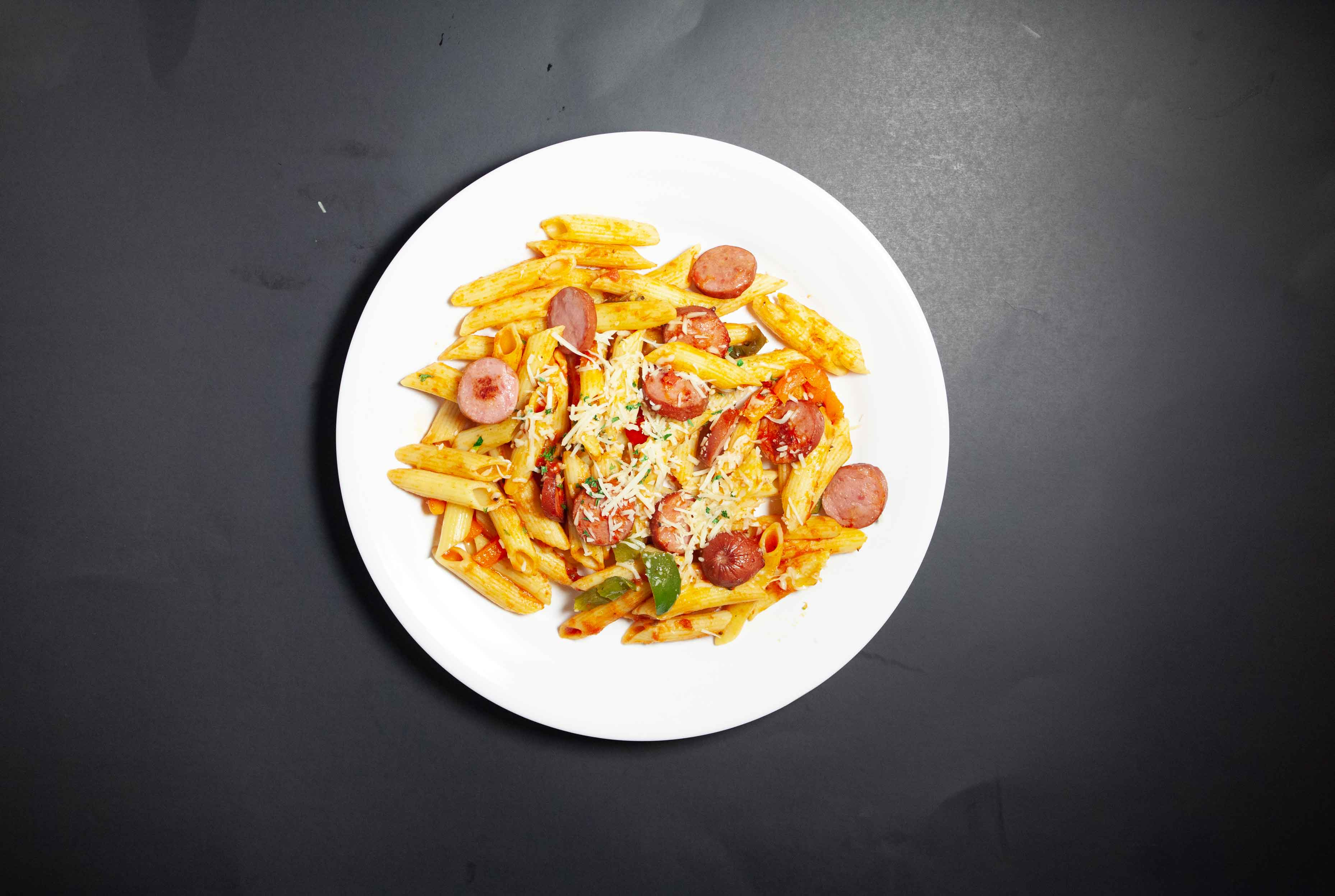 Cajun Turkey Sausage Pasta - Build
