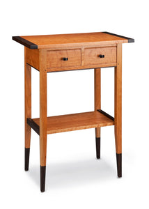 Cherry Two-Drawer Hall Table