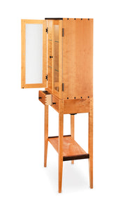 Tall Cherry Display Two Door Cabinet