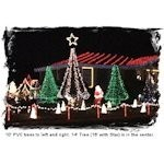 15' PVC Christmas Tree Kit (17' tall with a Star)