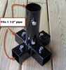 "5-way Stand to hold a 1-1/4"" EMT Pole vertically and use 1-1/4"" pipe for legs of stand (tube)"