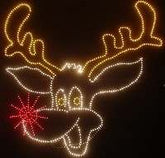 Animated Rudy the Reindeer Light-o-Rama sequences with audio files.
