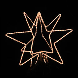 "24"" Wire frame 3D Star With led Rope Light Kit"