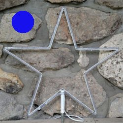 "LED 24"" Star blue rope light"