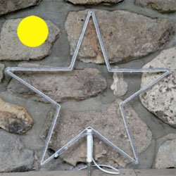 "LED 12"" Star yellow rope light"