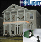 2 Light Flurries Snowflake Projectors For One Low Price