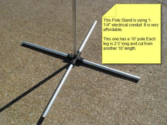 5 Way Stand To Hold A 1 1 4 Quot Pole Vertically And Use 1 1 4