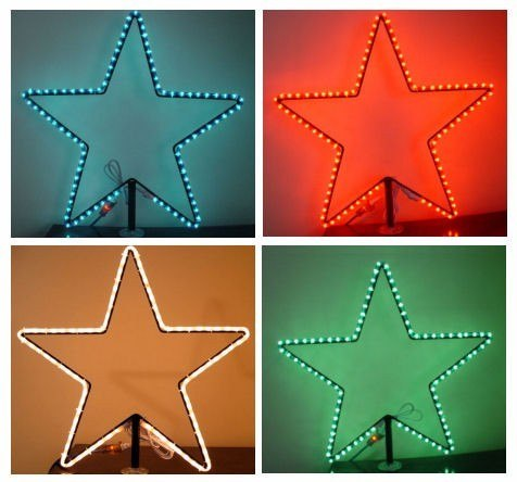 "24"" Wire frame Star With LED Rope Light"