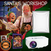 AtmosCheerfx Santa's Workshop 1200 Lumen Video Projector On SD Media Card