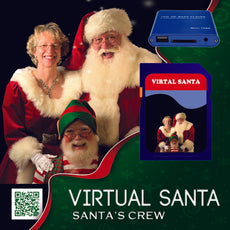 Virtual Santa Mini Media Player includes Virtual Santa video on SD media card