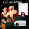 Virtual Santa on SD Media Card 1900 Lumen LED Video Projector and Projection material bundle