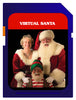 Virtual Santa Mini Media Player Bundle includes Virtual Santa video on SD media card, Media player and projection screen