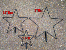 "24"" Wire frame Star  (Frame Only)"