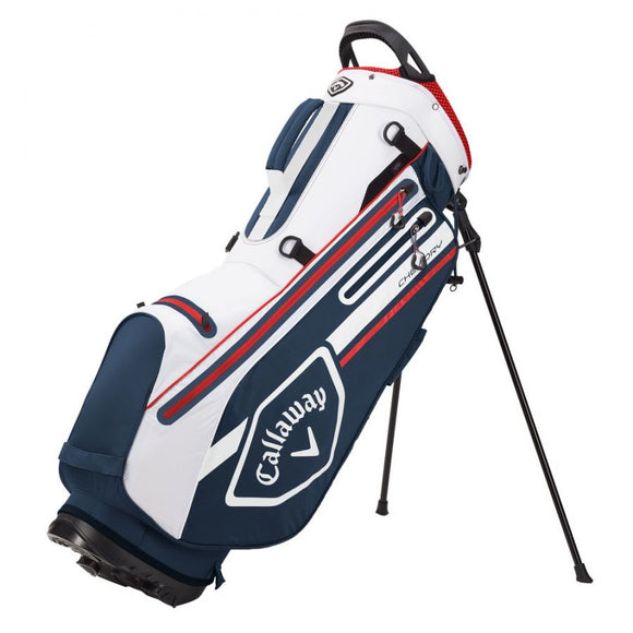 Callaway CHEV DRY Waterproof Golf Stand Bag 2021 - Navy/White/Red
