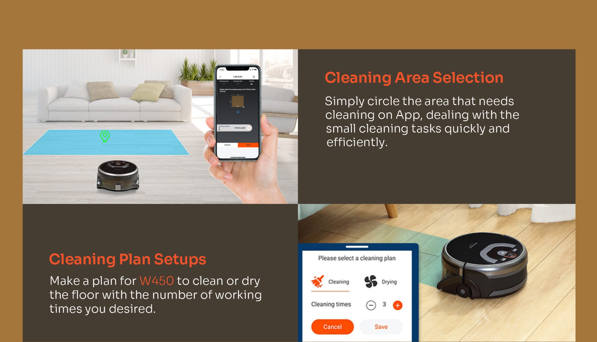 Cleaning Area selection