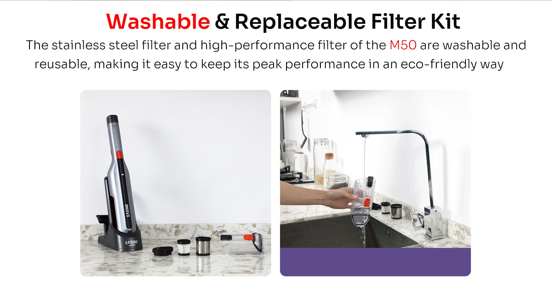 washable and replaceable