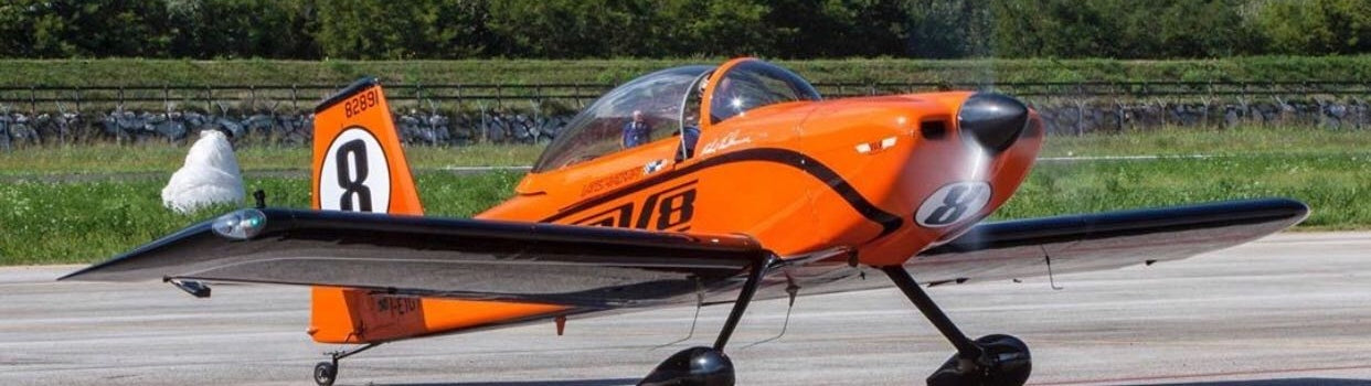 Francesco Dante flying his RV-8 aircraft