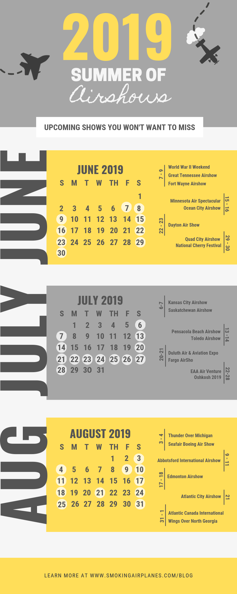 Summer 2019 Airshows Infographic