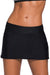 Plus Size Black Skirted Swim Bikini Bottom