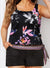 WINDFLOWER SIDE TIE BLOUSON TANKINI