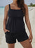 BLACK FLARED TANKINI WITH CARGO SHORT