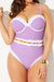 GIRLFRIEND BELTED UNDERWIRE ONE PIECE SWIMSUIT
