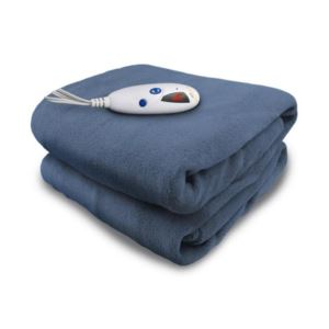 Electric Heated Micro plush Throw with Digital Control - (Denim)