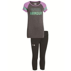 Girls Big Logo Raglan/Capri Set