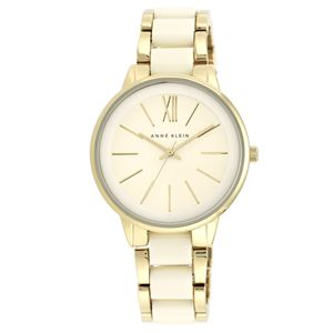 Women's Ivory and Gold Bracelet Watch