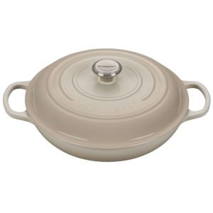 3.5qt Signature Cast Iron Braiser Meringue