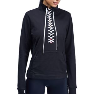Laced Up Pullover - Black - XS