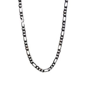 Stainless Steel 22 Figaro Link Necklace