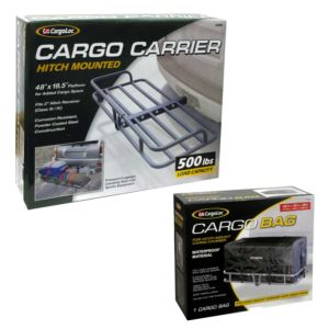 CargoLoc Cargo Bag for Hitch Mount Carrier plus CargoLoc Hitch Mounted Cargo Bag - 69998