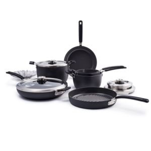 Levels 11pc Stackable Ceramic Nonstick Cookware Set