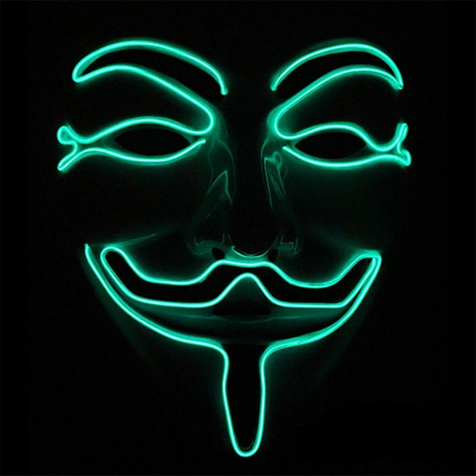 Máscara LED Anonymous-Verde Escuro-4EVAH Young