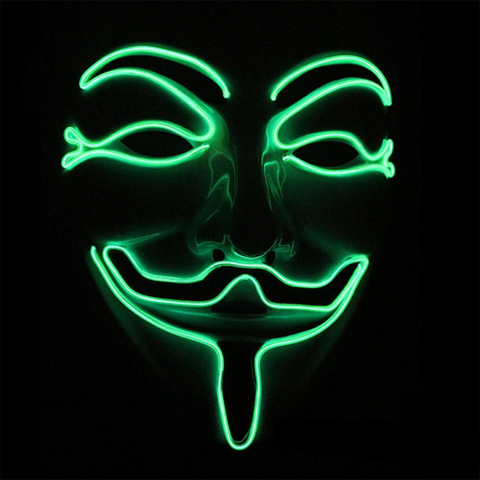 Máscara LED Anonymous-Verde Fluorescente-4EVAH Young