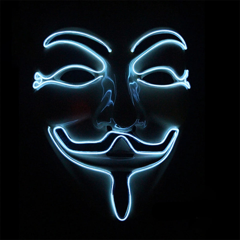 Máscara LED Anonymous-Branco-4EVAH Young