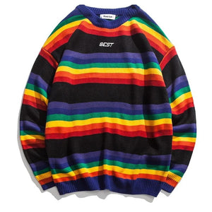 Blusa Rainbow-black sweater-M- - 4EVAH Young