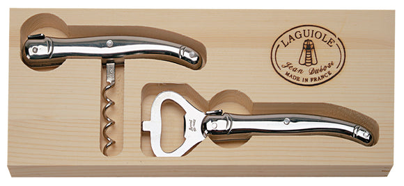 Wine Corkscrew and Bottle Opener Duo - Stainless Steel