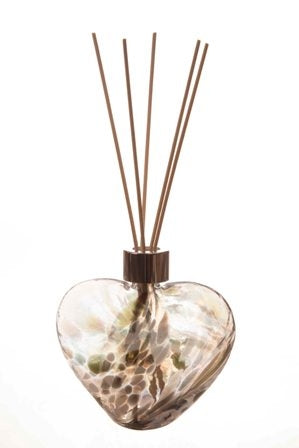 Hand Blown Glass Reed Diffuser Bottle - Heart