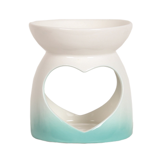 Teal Heart Wax Burner