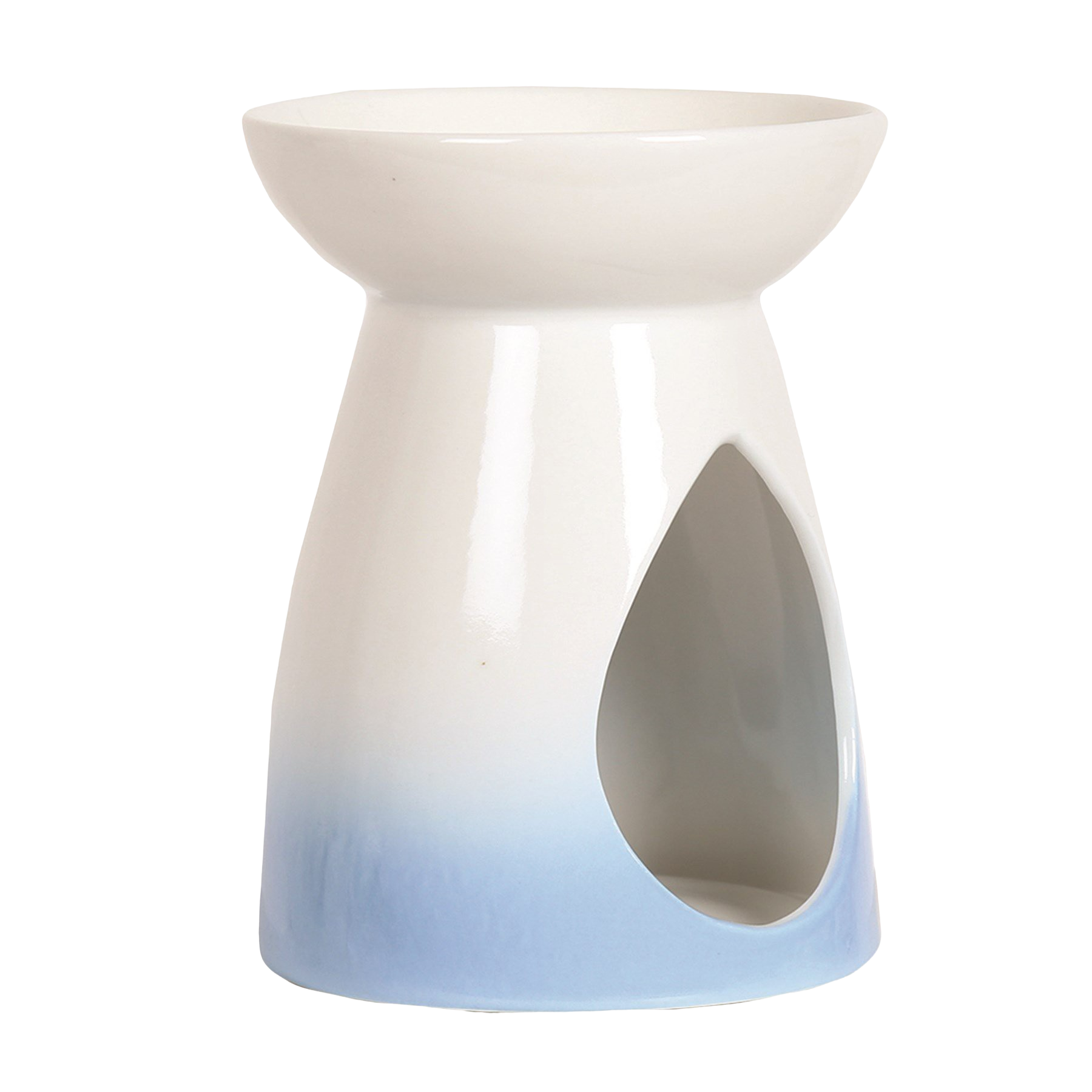 Blue Teardrop Wax Burner