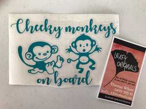 Cheeky Monkeys on Board