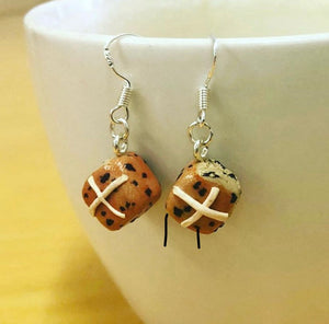 Hot Cross Bun Earrings