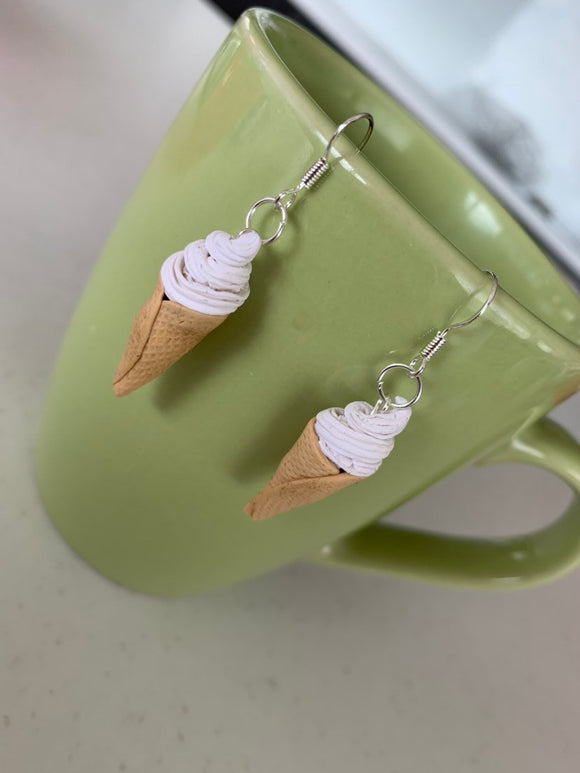 Soft Serve Icecream Cone Earrings