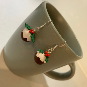 Christmas Pudding Earrings